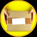 un pacco pronto per essere consegnato
