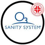 logo sanity system per la sanificazione con l'ozono