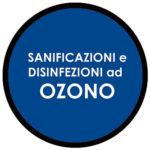 logo sanificazione e disinfezione con l'ozono